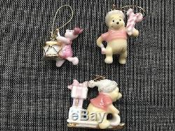 10 LENOX Christmas Ornaments POOH'S Disney Winnie the Pooh Robin Tigger Eeyore