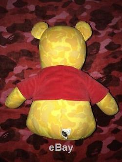 100% Authentic Bape X Disney Winnie The Pooh Bear Yellow Camo RARE 2006 OG APE