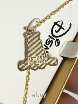 10kt Yellow Gold Winnie the Pooh Disney Pendant Kids Necklace, 18 Chain withBox