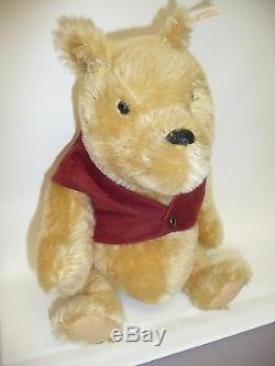 11 Winnie the Pooh by Steiff, Mohair, Jointed, Tag in Ear & Box, #02995