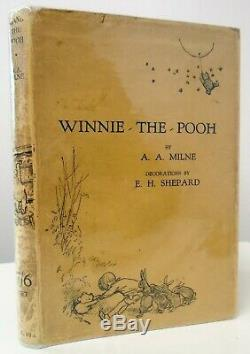 1926 1st Edition/1st Impression A. A. Milne WINNIE THE POOH Illustrated Shepard