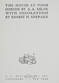 1928 ed WINNIE THE POOH SET House at Corner FIRST YEAR PRINTING Disney A A MILNE