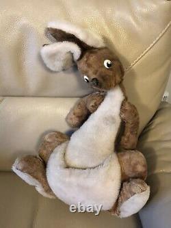1965 Kanga Vintage Merrythought Kangaroo Winnie the Pooh 1960s Soft Toy Disney