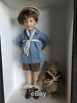 1998 MINT In Box COA Christopher Robin & Winnie The Pooh R John Wright Artist NR