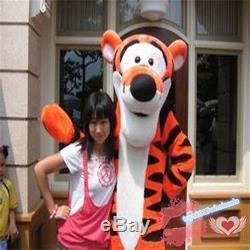 2019 Hot Adult Winnie The Pooh Bear & Tigger Mascot Costume Cartoon Fancy Dress