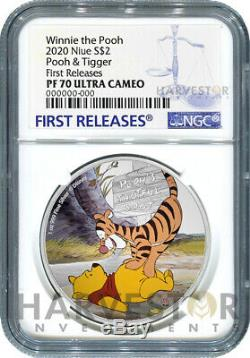 2020 Disney Winnie The Pooh Series Pooh & Tigger Ngc Pf70 First Releases