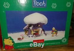 3 RARE Disney Winnie the Pooh's, Tiggers, Piglets House Christmas Village DELUXE