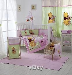 4 Pices Baby Girl Bedding Set Pink Winnie The Pooh Baby Bedding Collection