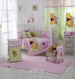 4 Piece Pink Winnie The Pooh Crib Bedding Cot Set Rrp $250.00