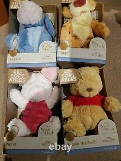 4 Resoftables Winnie The Pooh piglet eeyore tigger Disney plush 95th anniversary