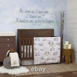 6 Piece Nursery Crib Bedding Set Classic Winnie The Pooh Unisex Neutral Baby