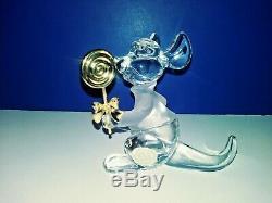 8 Retired Disney Lenox Winnie the Pooh Crystal Figurines, Retired 2004 M/C