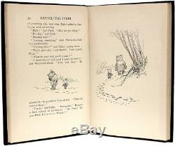 A. A. Milne WINNIE THE POOH 1926 FIRST PRINTING FIRST EDITION