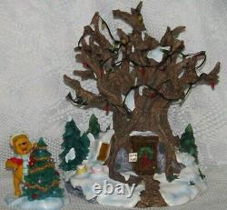 Authentic Disney Winnie the Pooh Christmas Lighted Tree House NIOB