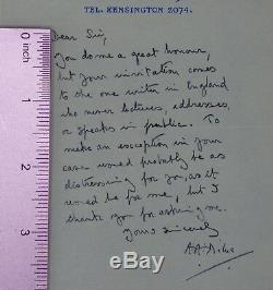 Autograph Letter Signed by A. A. Milne Author of the Winnie the Pooh Books