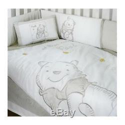 Baby Bedding Design Disney Gray Winnie the Pooh 3 Piece Crib Bedding Set Baby