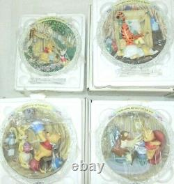 Bradford Exchange Disney Winnie The Pooh And Friends Plates Collection Set 12
