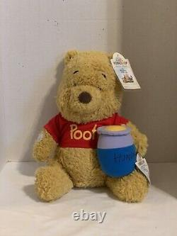 Build A Bear 2020 WINNIE-THE-POOH Withred Shirt, Hunny Pot, sound. SOLD OUT