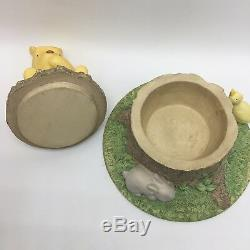 Classic Winnie the Pooh Michel Box 100 Acre Wood Log Duck Rabbit Nursery Decor