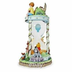 DISNEY 55th ANNIVERSARY Hourglass Snow Globe WINNIE THE POOH & HONEY TREE