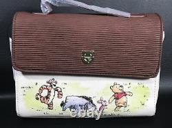 DISNEY Loungefly Classic Winnie The Pooh Crossbody Purse Bag & Cardholder