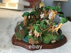 Danbury Mint Hundred Acre Woods Winnie the Pooh Diorama with Figures