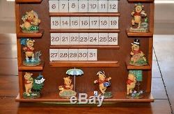Danbury Mint Winnie the Pooh Perpetual calendar Complete Figures