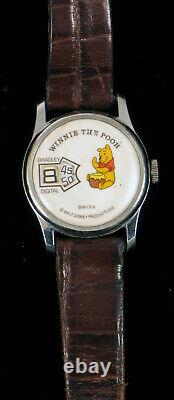 Digital Walt Disney Bradley Winnie The Pooh Jump Hour Direct Read Wristwatch