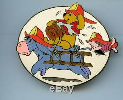 Disney Auctions Fire Fighters Fireman Winnie the Pooh Eeyore & Piglet LE100 Pin