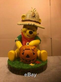 Disney Big Fig Figure Statue Winnie the Pooh Halloween Pumpkin Scarecrow