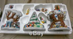 Disney Christmas in the Hundred Acre Wood, Winnie the Pooh, Lighted 7 pc set