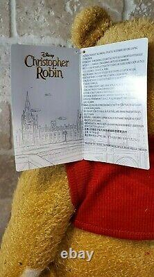 Disney Christopher Robin Movie Winnie The Pooh Plush Theme Parks MINT WITH TAGS