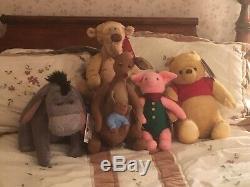Disney Christopher Robin Plush Set Complete Pooh Eeyore Tigger Kanga Roo Piglet