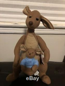 Disney Christopher Robin Plush set Winnie the Pooh Eeyore Tigger Kanga Piglet