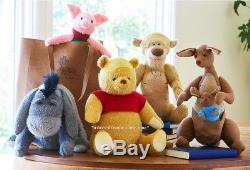 Disney Christopher Robin Pooh-Tigger-Eeyore-Piglet-Kanga & Roo Set of 5 plushes