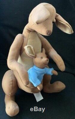 Disney Christopher Robin Winnie The Pooh Live Action Kanga & Roo Plush Set New