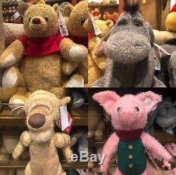 Disney Christopher Robin movie Plush Winnie The Pooh Tiger Piglet Eeyore 4 Set