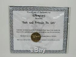 Disney DLR Winnie the Pooh Framed Pin Set Limited Edition HTF