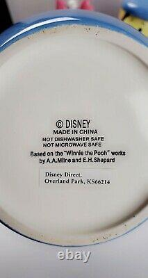 Disney Direct Winnie The Pooh Peek Cookie Jar Set- Very Rare Blue set