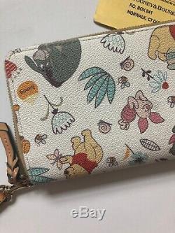 Disney Dooney & Bourke Winnie The Pooh Wallet Wrislet Tigger Eeyore W Card