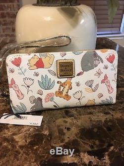 Disney Dooney & Bourke Winnie The Pooh Wallet Wristlet Eeyore Tigger Piglet NWT