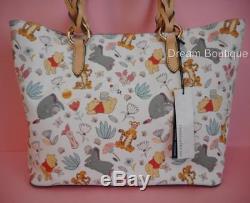 Disney Dooney & Bourke Winnie the Pooh Large Tote Handbag NWT