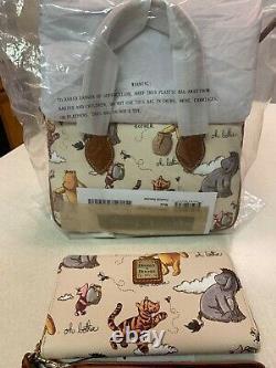 Disney Dooney & Bourke Winnie the Pooh Satchel Crossbody & Wallet NEW NWT