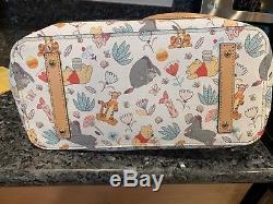 Disney Dooney Bourke Winnie the Pooh Tote & Wallet EUC Eeyore Tigger Piglet