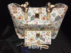 Disney Dooney Bourke Winnie the Pooh Tote & Wallet NWTs Eeyore Tigger Piglet