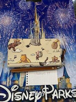 Disney Dooney and & Bourke Winnie the Pooh Wristlet Wallet Eeyore Piglet Tigger