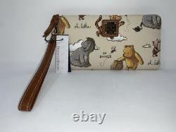 Disney Dooney and & Bourke Winnie the Pooh Wristlet Wallet Eeyore Pooh Piglet