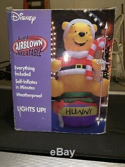 Disney Giant Airblown Inflatable Winnie The Pooh Christmas Rare Htf Gemmy Xmas