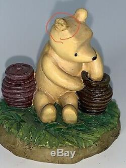 Disney Lenox Winnie the Pooh Thimble Collection, Complete Set withMirror Shelf