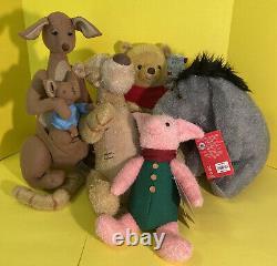 Disney Live Action Christopher Robin Winnie The Pooh Plush BNWT Complete Set